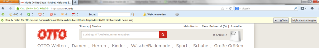 bonitv cashback toolbar