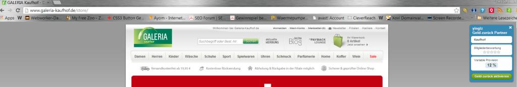 yingiz cashback toolbar