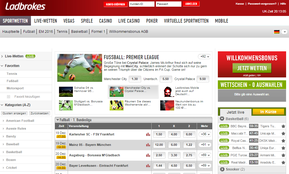 Screenshot Ladbroks